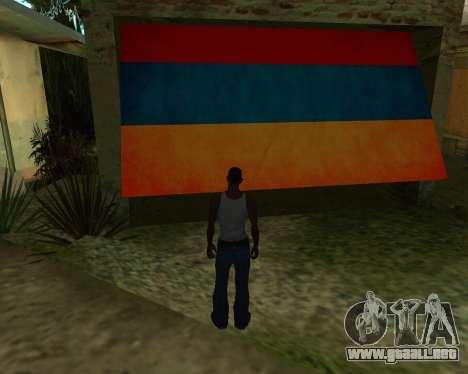 Garaje CJ armenia para GTA San Andreas segunda pantalla
