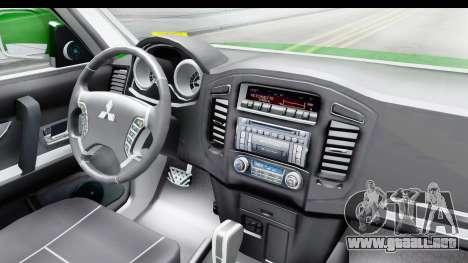 Mitsubishi Montero Carabineros de la Sección de  para visión interna GTA San Andreas