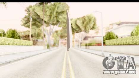 Bleach - Ichigo Weapon para GTA San Andreas segunda pantalla