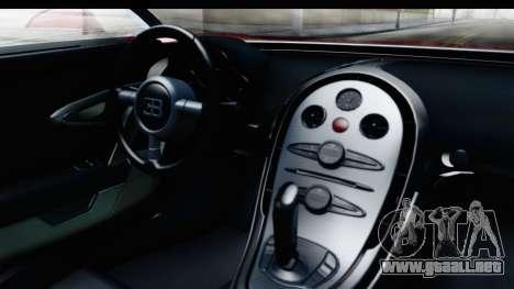 Bugatti Chiron 2017 v2 para visión interna GTA San Andreas