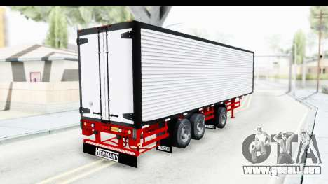 Trailer with Axle para GTA San Andreas left