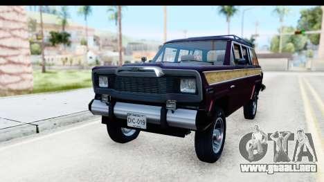 Jeep Grand Wagoneer para la visión correcta GTA San Andreas