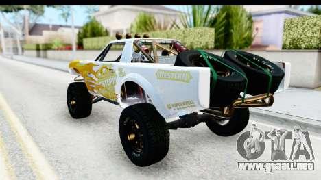 GTA 5 Trophy Truck SA Lights PJ para la vista superior GTA San Andreas