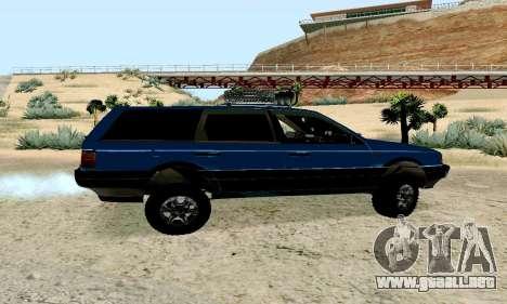 Volkswagen B3 para GTA San Andreas vista posterior izquierda