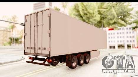 Trailer ETS2 v2 New Skin 2 para GTA San Andreas vista posterior izquierda