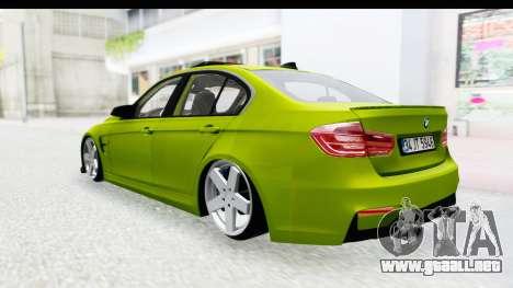 BMW M3 F30 Hulk para la visión correcta GTA San Andreas