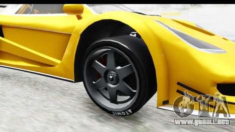 GTA 5 Progen Tyrus IVF para GTA San Andreas vista hacia atrás