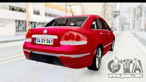 Fiat Linea 2015 v2 para GTA San Andreas left