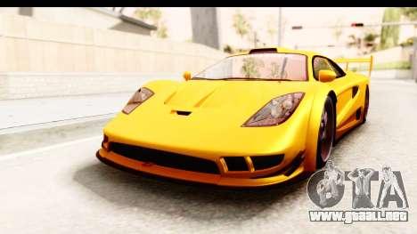 GTA 5 Progen Tyrus SA Style para GTA San Andreas vista hacia atrás