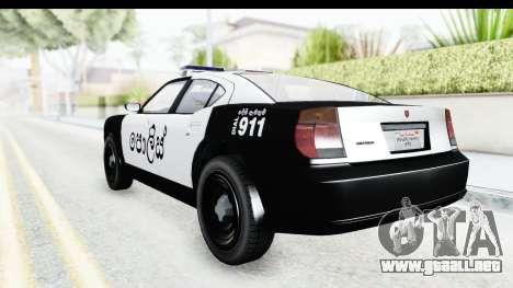 Sri Lanka Police Car v2 para la visión correcta GTA San Andreas