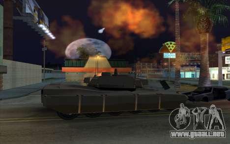 El efecto de disparo de tanque para GTA San Andreas sucesivamente de pantalla