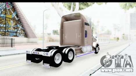 Kenworth T800 Centenario Studio Sleeper Toys para GTA San Andreas left