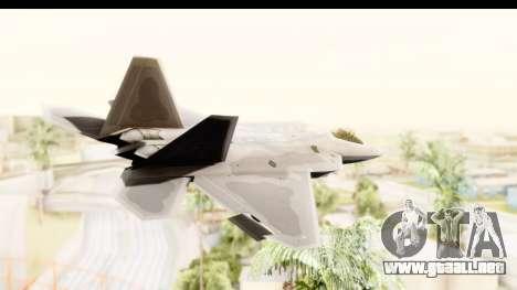 Lockheed Martin F-22 Raptor para la visión correcta GTA San Andreas
