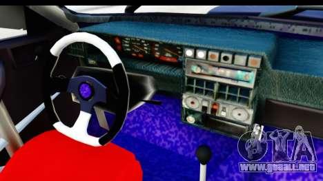 Dacia 1310 Berlina Tunata v2 para visión interna GTA San Andreas