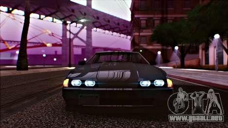 Elegy Drophead para GTA San Andreas vista posterior izquierda