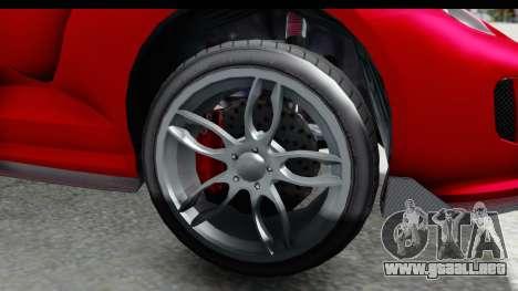 GTA 5 Grotti Bestia GTS with MipMap IVF para GTA San Andreas vista hacia atrás