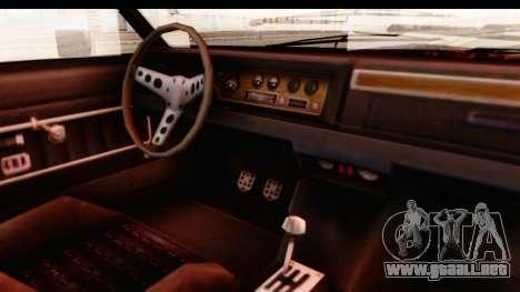 GTA 5 Albany Emperor IVF para visión interna GTA San Andreas