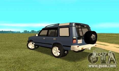 Land Rover Discovery 2B para GTA San Andreas vista posterior izquierda