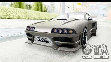 Elegy Sport Type v1 para GTA San Andreas vista posterior izquierda
