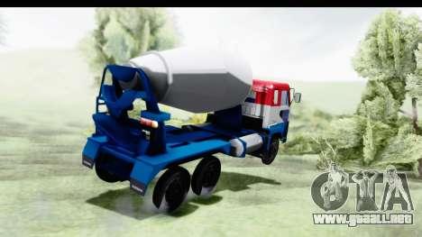 Nissan Diesel UD Big Thumb Cement Babena para GTA San Andreas left