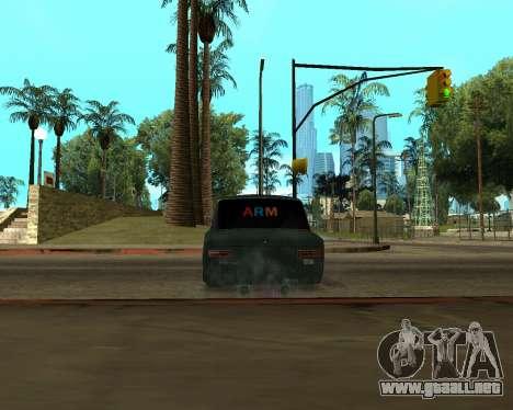 VAZ 2101 Armenian para GTA San Andreas vista hacia atrás