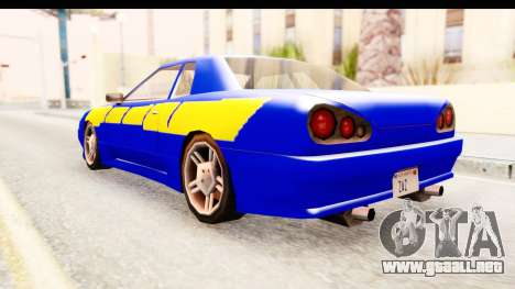 NFSU2 Tutorial Skyline Paintjob for Elegy para GTA San Andreas left