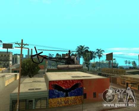 Grove Street Armenian Flag para GTA San Andreas sucesivamente de pantalla