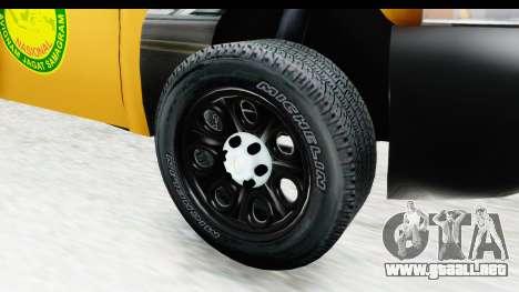 Chevrolet Silvedaro Basarnas para GTA San Andreas vista hacia atrás