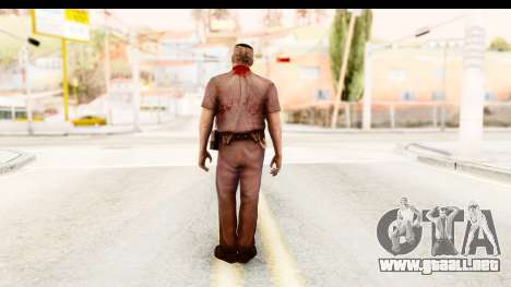 Left 4 Dead 2 - Zombie Policeman para GTA San Andreas tercera pantalla