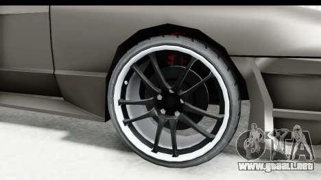 Elegy Sport Type v1 para GTA San Andreas vista hacia atrás