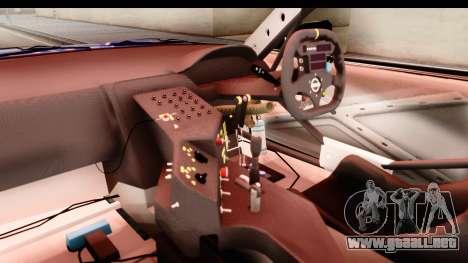 Nissan Sileighty 2015 D1GP para visión interna GTA San Andreas