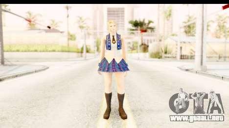 DoA 5 - Sarah Pop Idol para GTA San Andreas segunda pantalla