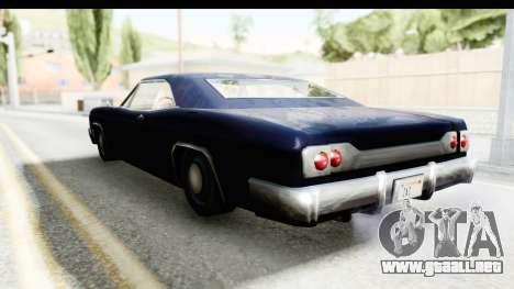 Blade Hardtop para GTA San Andreas vista posterior izquierda