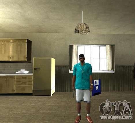 Camisa Tommy para GTA San Andreas segunda pantalla