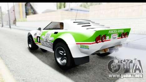 GTA 5 Lampadati Tropos SA Lights para GTA San Andreas interior