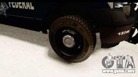Ford F-150 Federal Police para GTA San Andreas vista hacia atrás