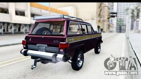 Jeep Grand Wagoneer para GTA San Andreas left