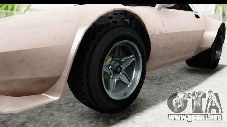 GTA 5 Lampadati Tropos SA Lights para GTA San Andreas vista hacia atrás