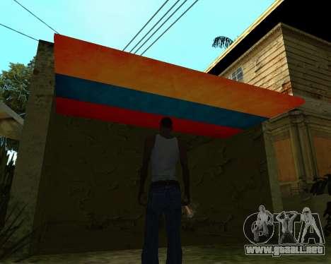 Garaje CJ armenia para GTA San Andreas tercera pantalla