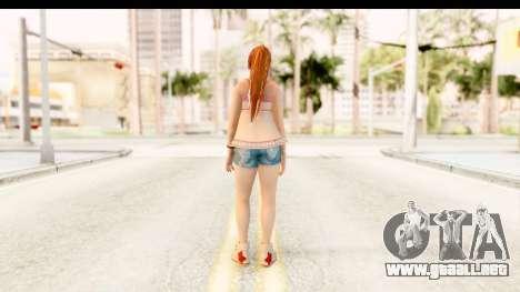 Dead Or Alive 5 - Kasumi Intimate para GTA San Andreas tercera pantalla