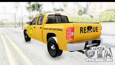 Chevrolet Silvedaro Basarnas para GTA San Andreas left