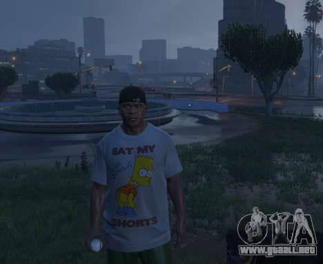 GTA 5 Bart Simpson T-Shirt for GTA V quinta captura de pantalla
