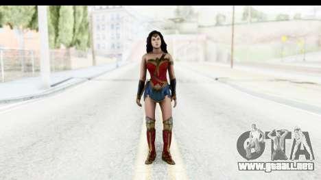 Injustice God Among Us - Wonder Woman BVS para GTA San Andreas segunda pantalla