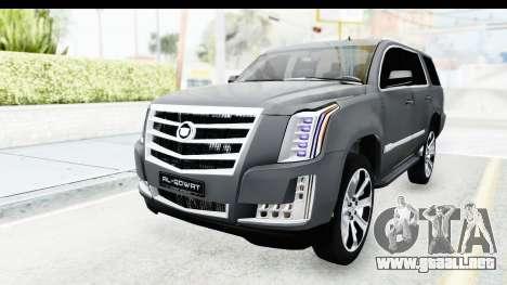 Cadillac Escalade 2016 para GTA San Andreas vista posterior izquierda