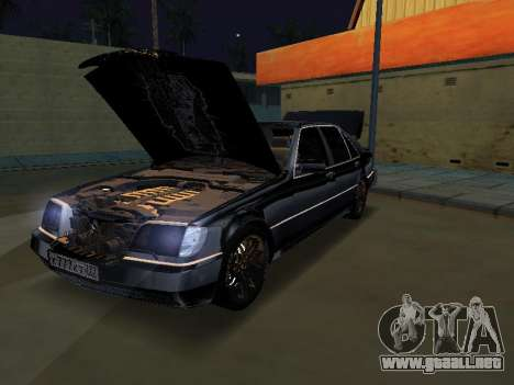 Mersedes-Benz W140 600SEL para GTA San Andreas vista posterior izquierda