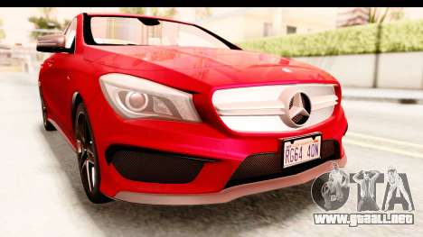 Mercedes-Benz CLA45 AMG 2014 para vista lateral GTA San Andreas