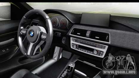 BMW M3 F30 Hulk para visión interna GTA San Andreas