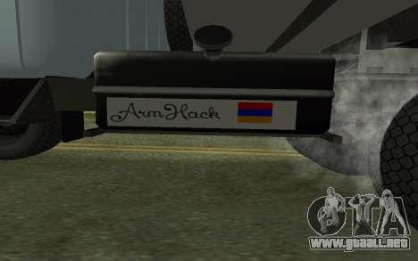 ZIL-130 Armenia para vista lateral GTA San Andreas