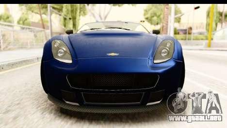 GTA 5 Dewbauchee Rapid GT para visión interna GTA San Andreas