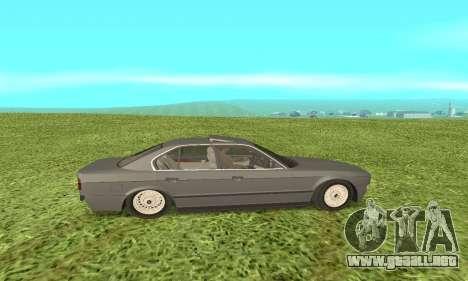 BMW 535i para GTA San Andreas vista posterior izquierda